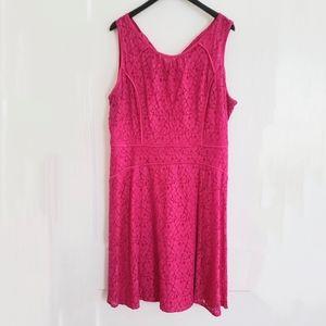 Studio One | 16 pink lace sleeveless lined dress